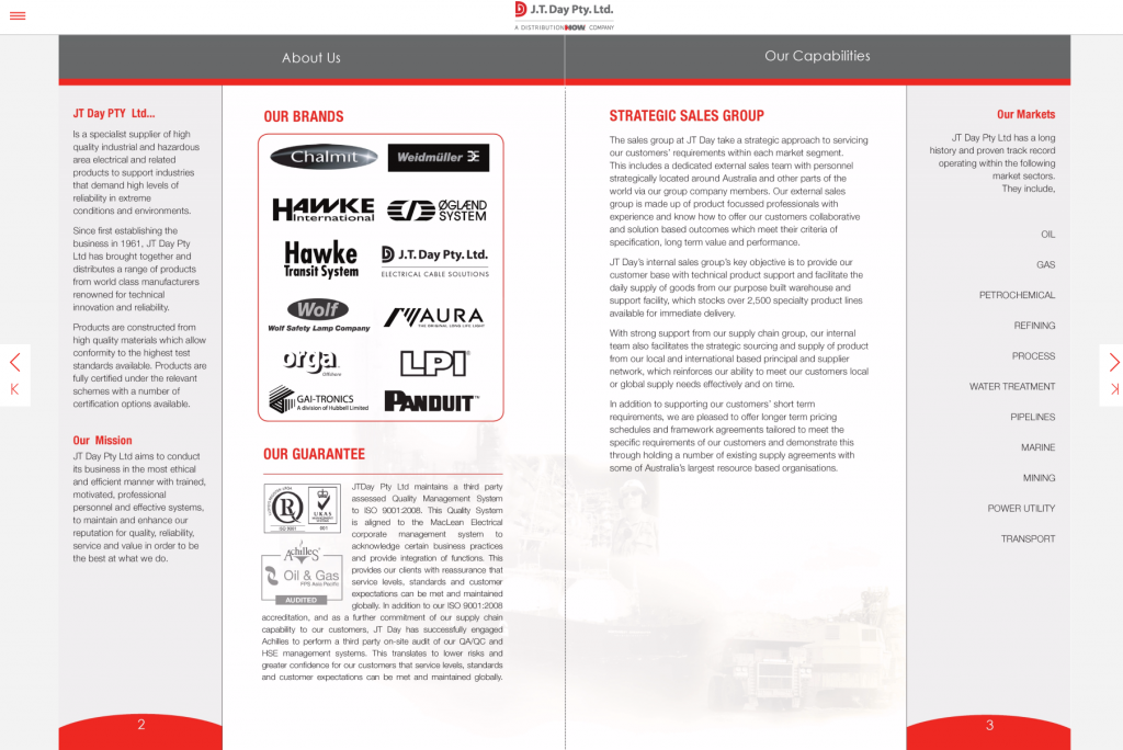 JT day-corporate brochure